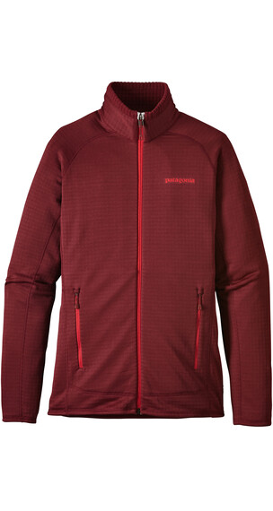 Patagonia W's R1 Full-Zip Jacket Drumfire Red